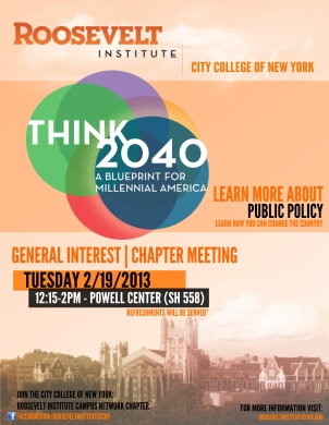 Roosevelt CCNY Flyer - GI 2013