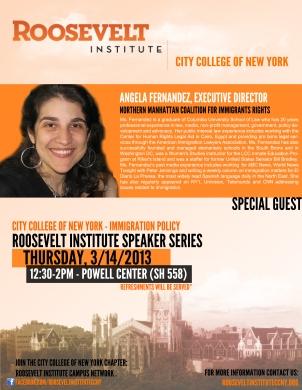 Roosevelt CCNY Flyer - (Fernandez)